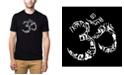LA Pop Art Men's Premium Word Art T-Shirt - Om Symbol