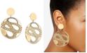 RACHEL Rachel Roy Gold-Tone Snake Disc Drop Earrings