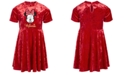 Disney Little Girls Minnie Mouse Velvet Dress