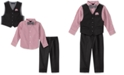 Nautica Baby Boys 4-Pc. Bowtie, Plaid Shirt, Vest & Pants Set