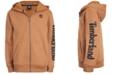 Timberland Big Boys Hayes Wheat Full-Zip Fleece Logo Hoodie