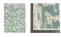 "Trina Turk Tanja Modern Teal Blue 7'10"" x 10'2"" Area Rug"