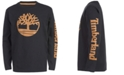 Timberland Big Boys Epsom Black Logo T-Shirt