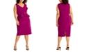 RACHEL Rachel Roy Plus Size Asymmetrical Ruffle-Trim Dress