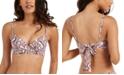 RACHEL Rachel Roy Python-Print Underwire Bikini Top