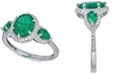 Macy's Emerald (2-1/2 ct. t.w.) & Diamond (1/4 ct. t.w.) Statement Ring in 14k White Gold (Also available in Ruby or Sapphire)