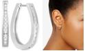 Macy's Diamond Elongated Hoop Earrings (1/2 ct. t.w.) in 14k White Gold or 14k Gold