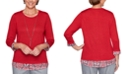 Alfred Dunner Well Red Layered-Look Top