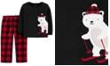 Carter's Toddler Boys 2-Pc. Fleece Polar Bear Pajamas Set