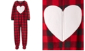 Carter's Little & Big Girls 1-Pc. Buffalo Check Fleece Footie Pajamas