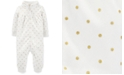Carter's Baby Girls Polka Dot Full-Zip Fleece Jumpsuit