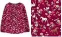 Carter's Big & Little Girls Horse-Print Pintuck Shirt
