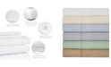 Aspire Linens 400 Thread Count with Hemstitch, 4-PC Solid Queen Sheet Set