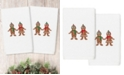 Linum Home Christmas Gingerbread Embroidered 100% Turkish Cotton 2-Pc. Hand Towel Set