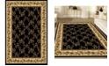 "KM Home CLOSEOUT! 1427/1722/BLACK Navelli Black 7'9"" x 9'6"" Area Rug"