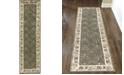 """KM Home CLOSEOUT! 1590/3005/SAGE Pesaro Green 2'2"""" x 7'7"""" Runner Rug"""