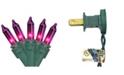 "Northlight Set of 35 Purple Mini Christmas Lights 2.5"" Spacing - Green Wire"