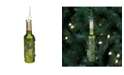 "Northlight 6"" Green Mercury Finish Wine Bottle Christmas Glass Ornament"