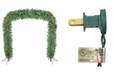 Northlight 9' x 8' Commercial Size Pre-Lit Green Pine Artificial Christmas Archway - Clear Lights