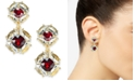 Charter Club Stone & Crystal Drop Earrings, Created For Macy's