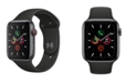 Apple Watch Series 5 GPS + Cellular, 44mm Space Gray Aluminum Case with Black Sport Band