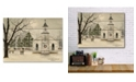 """Courtside Market I Heard The Bells on Christmas Day 16"""" x 20"""" Wood Pallet Wall Art"""