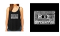 LA Pop Art Women's Premium Word Art Flowy Tank Top- The 80's