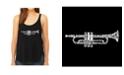 LA Pop Art Women's Premium Word Art Flowy Tank Top- Trumpet