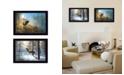 "Trendy Decor 4U Elk Collection By Jim Hansen, Printed Wall Art, Ready to hang, Black Frame, 20"" x 14"""