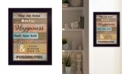 "Trendy Decor 4U Trendy Decor 4U Our Home by Karen Tribett, Ready to hang Framed Print, Black Frame, 15"" x 19"""