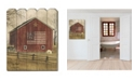 """Trendy Decor 4U Flag Barn by Billy Jacobs, Printed Wall Art on a Wood Picket Fence, 16"""" x 20"""""""