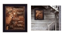 "Trendy Decor 4U Joy of Hunting deer by Lori Deiter, Ready to hang Framed Print, Black Frame, 14"" x 18"""