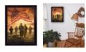 "Trendy Decor 4U Trendy Decor 4U Bless Americas' Heroes By Bonnie Mohr, Printed Wall Art, Ready to hang, Black Frame, 20"" x 26"""