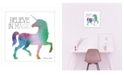 "Trendy Decor 4U Believe in Magic Unicorn by SUSAn Ball, Ready to hang Framed print, White Frame, 15"" x 15"""
