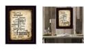 "Trendy Decor 4U Family By Susan Boyle, Printed Wall Art, Ready to hang, Black Frame, 14"" x 20"""