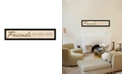 """Trendy Decor 4U Friend a Gather Here By Lauren Rader, Printed Wall Art, Ready to hang, Black Frame, 38"""" x 8"""""""