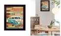 """Trendy Decor 4U Let the Journey Begin By Marla Rae, Printed Wall Art, Ready to hang, Black Frame, 14"""" x 18"""""""