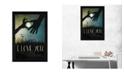 "Trendy Decor 4U I Love You Underneath the Moon By Marla Rae, Printed Wall Art, Ready to hang, Black Frame, 14"" x 20"""