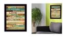 "Trendy Decor 4U Live Joyfully by Marla Rae, Ready to hang Framed Print, Black Frame, 20"" x 26"""