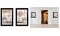 "Trendy Decor 4U Farm Living 2-Piece Vignette by Mary Ann June, Black Frame, 14"" x 20"""