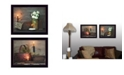 """Trendy Decor 4U Baskets and Flowers Collection By Susan Boyer, Printed Wall Art, Ready to hang, Black Frame, 18"""" x 14"""""""