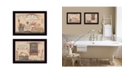 """Trendy Decor 4U Wash Room Collection By Pam Britton, Printed Wall Art, Ready to hang, Black Frame, 18"""" x 14"""""""
