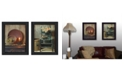 """Trendy Decor 4U Warm Home Setting Collection By Susan Boyer, Printed Wall Art, Ready to hang, Black Frame, 28"""" x 18"""""""