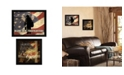"""Trendy Decor 4U Trendy Decor 4U Firefighters One Nation Collection By Marla Rae, Printed Wall Art, Ready to hang, Black Frame, 36"""" x 14"""""""
