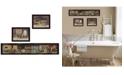 "Trendy Decor 4U COUNTRY BATH II 3-Piece Vignette by Pam Britten, Black Frame, 38"" x 13"""