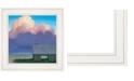"Trendy Decor 4U Through Rows by Tim Gagnon, Ready to hang Framed print, White Frame, 15"" x 15"""