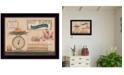 "Trendy Decor 4U Hot Bath By Pam Britton, Printed Wall Art, Ready to hang, Black Frame, 18"" x 14"""