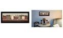 "Trendy Decor 4U The Village Proper By Pam Britton, Printed Wall Art, Ready to hang, Black Frame, 20"" x 8"""