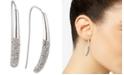 DKNY Silver-Tone Micropavé Threader Earrings