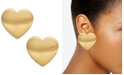 INC International Concepts INC Gold-Tone Large Heart Stud Earrings, Created for Macy's